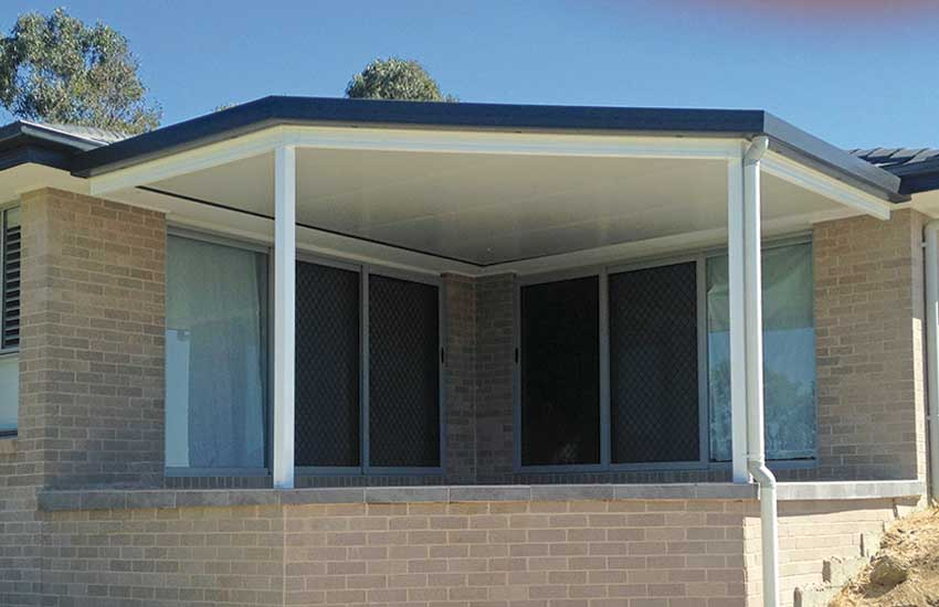 Attached insulated roof verandah