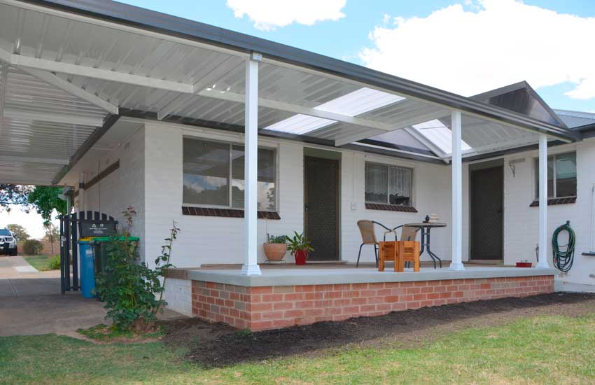 Attached combination roof Verandah and carport
