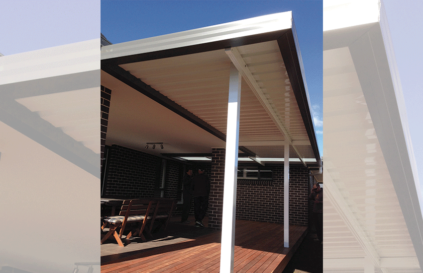 Extension to existing verandah using Monocload roof sheeting