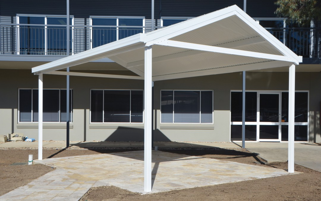 Freestanding Gable Roof Carport with corrugated roof sheeting