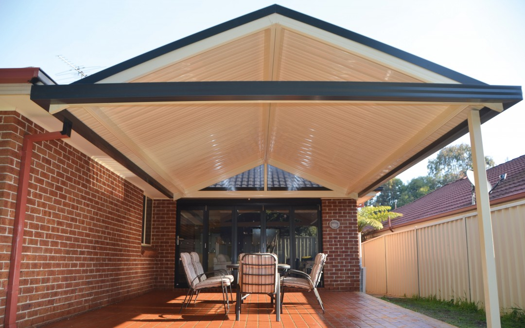 Gable roof verandah with Stramit Sunset roof sheeting