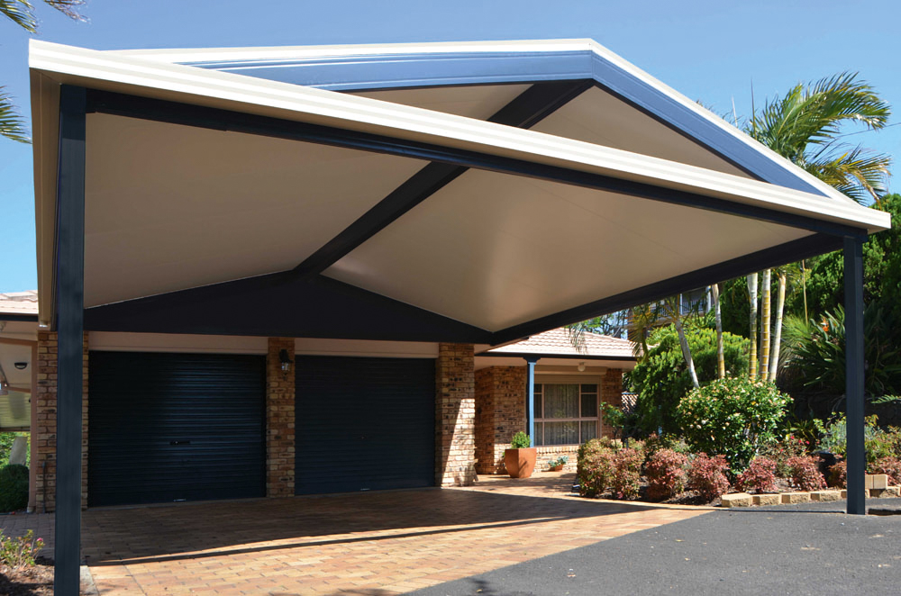 Insulated roof carport with Gable Roof
