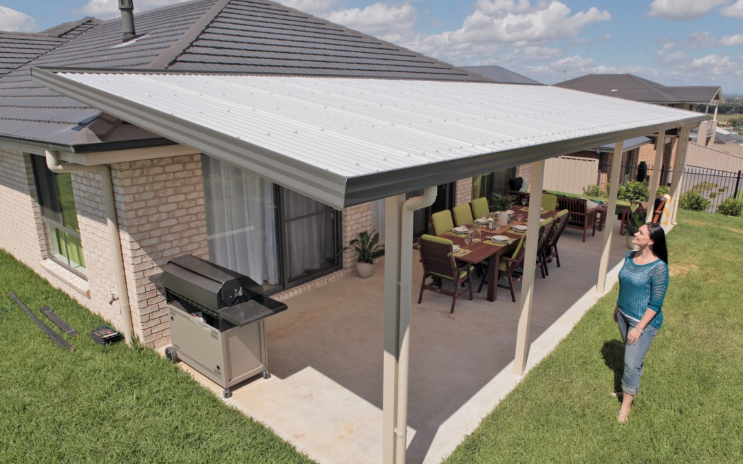 Translucent sheet verandah attached using fly over connections
