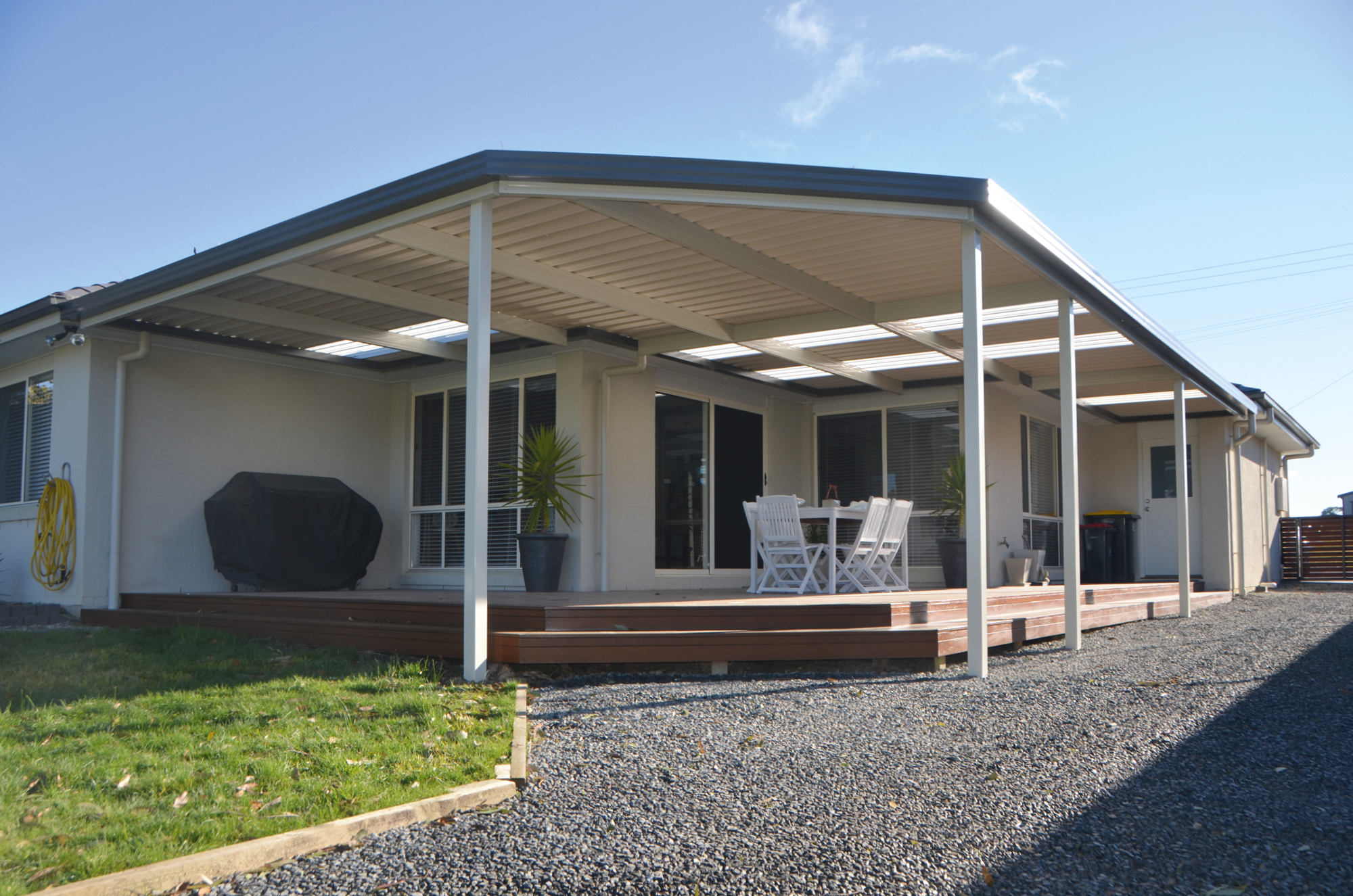 Attached Awning or Verandah with skylight from SOL Home Improvements
