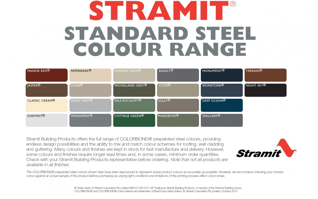 Stramit Colour chart
