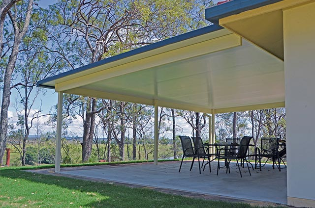 SOL Home Improvements attached Insulated Panel Flat Awning