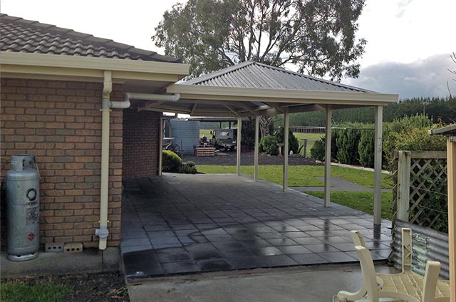 SOL Home Improvements Attached Hip Roof Colorbond Steel Carports