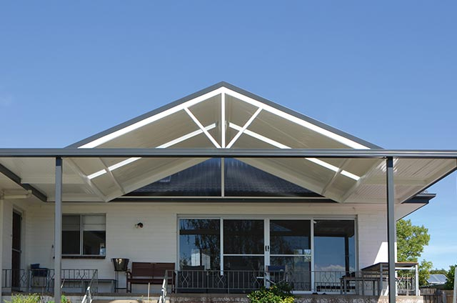 SOL Home Improvements Attached Combination Verandah Colorbond Steel Monoclad